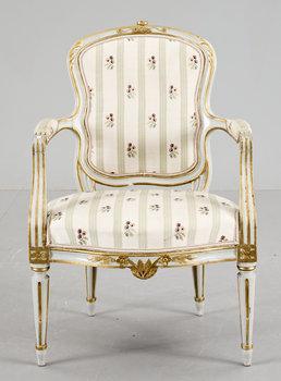 134. A gustavian armchair, late 18th century.
