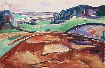 """208. Edvard Munch, """"Fra Ekely"""" (From Ekely)."""