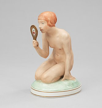 138. A Royal Copenhagen 20th century porcelain figure by Gerhard Henning.