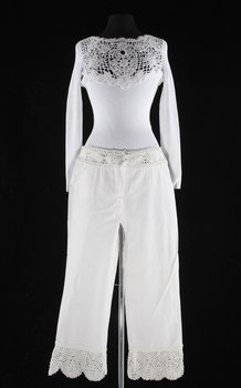 1212. A with top and trousers with lace by Chanel, spring 2005.
