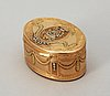 A swedish 18th century cinq couleurs gold snuff-box, makers mark of anders zachoun, stockholm 1772.