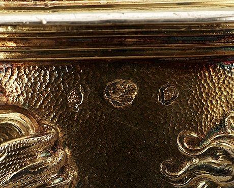 An Important German 17th Century Parcel Gilt Tankard
