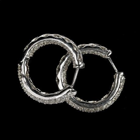 Earrings, brilliant cut diamonds, tot. 2.58 cts.