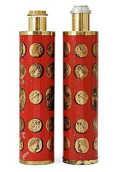10. Two Piero Fornasetti table lamps, Milano, Italy.