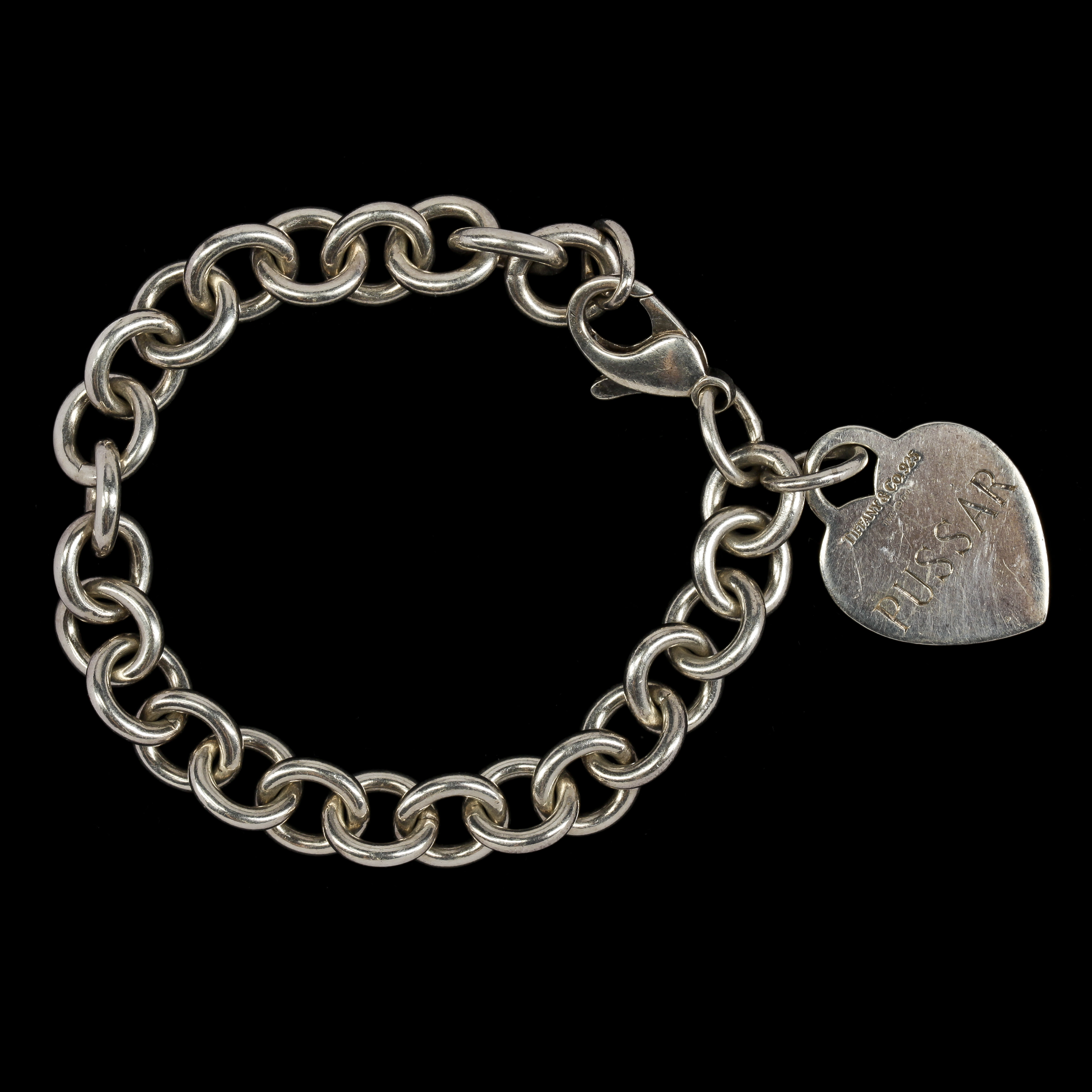 Silver armband med hjarta