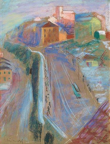 Isaac grünewald, view over stockholm.