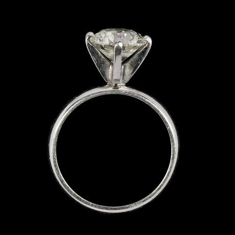 Ring, brilliant cut, 1.72 cts.