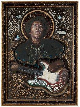 "284. WAWYN FRAME, ""Icon Jimi Hendrix""."