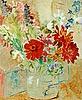 Isaac grünewald, still life with summer flowers.