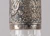 Karaff, glas, med silvermontering.