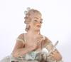 Figuriner, 2 st, porslin, wallendorf.