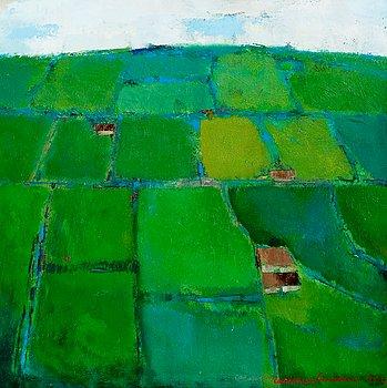 "25. Christina Snellman, ""GREEN FIELDS, IRELAND""."