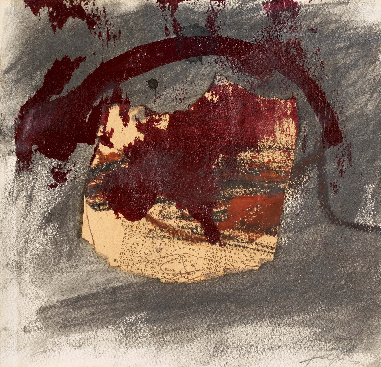 "Best Buy Private Auction >> Antoni Tàpies, ""Vermell Damunt Diari"". - Bukowskis"