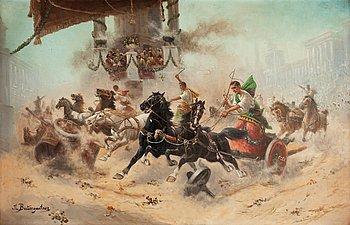 """218. Adolf Baumgartner (Constantin Stoiloff), """"Römische arenascene""""."""