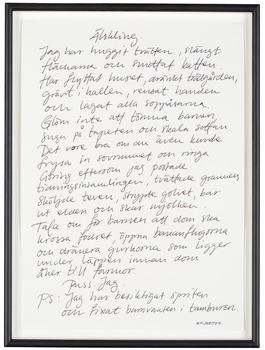 """13. Jesper Waldersten, """"Älskling"""" (Darling)."""