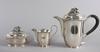 Kaffeservis, 3 delar, silver, erik råström, stockholm 1943