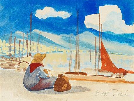 """Evert taube, """"på stranden"""" (at the beach)."""