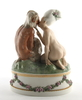 Figurin, porslin, gerhard henning, royal copenhagen, dat 1919.