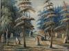 Wahlqvist, ernfreid, akvarell, 1800-tal. monogramsignerad.