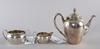 Kaffeservis, 3 delar, silver, karl anderson, stockholm 1941