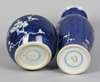 Vaser samt bojaner, 4 delar, porslin, 1800-tal, kina.