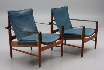 224484. FÅTÖLJER, ett par. Viskamöbler. Kinna, design Hans Olsen. 1960-tal.