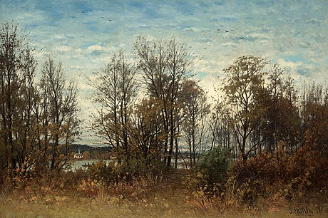 Per ekström, late summer landscape from djurgården.
