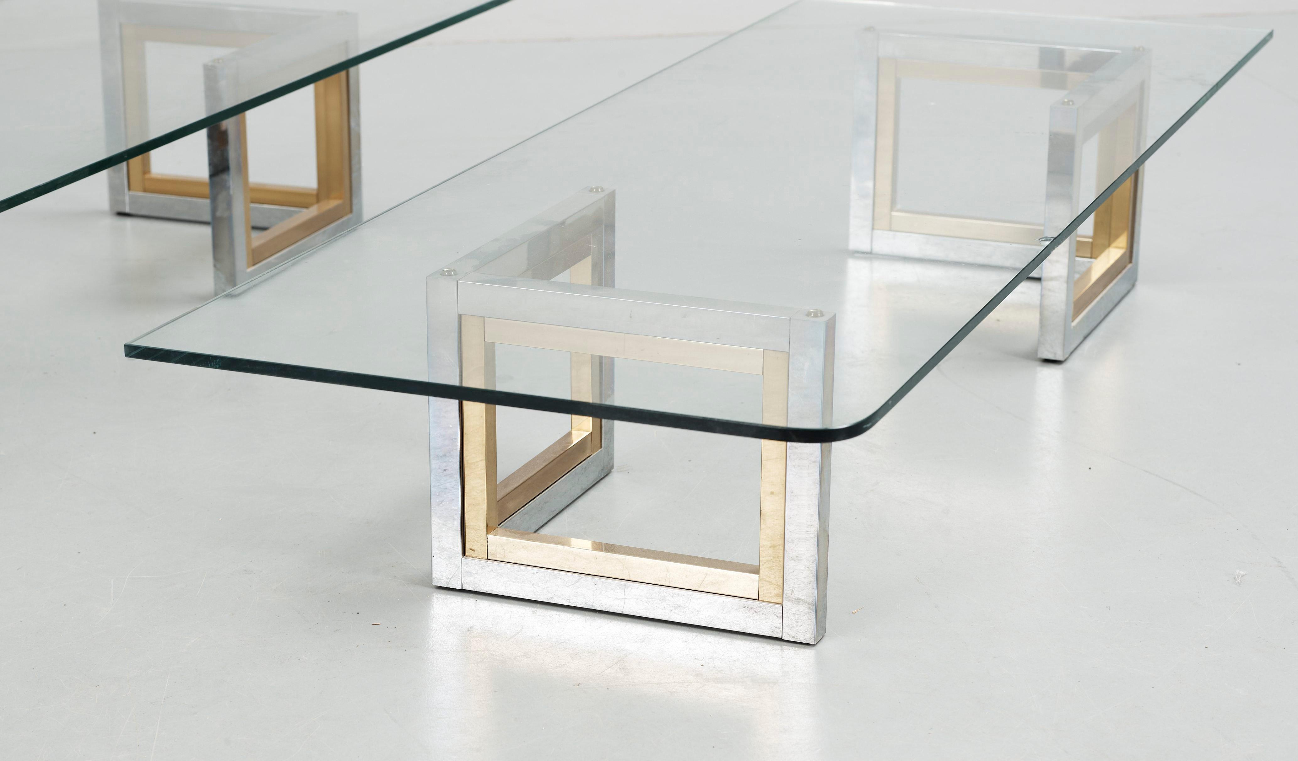 Sideboard Glas Och Metall 1980 Tal Bukowskis