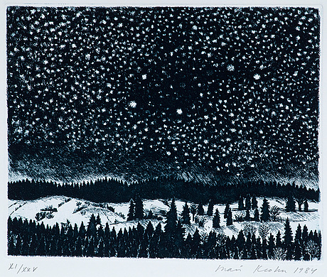 "Inari krohn, ""winter night""."
