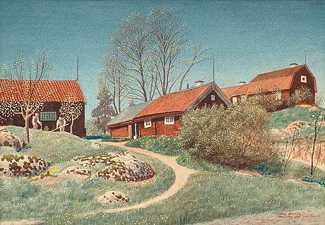 "Oskar bergman, ""neglinge gård"" (neglinge farm)."