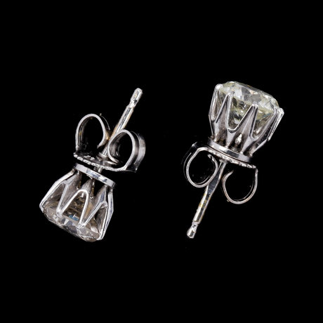 Earstuds, each brilliant cut diamond, app. 1 cts, tot, 2.10 cts.