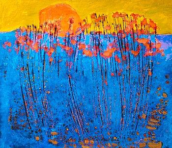 81. Reidar Särestöniemi, SEASHORE FLOWERS IN BLOOM.
