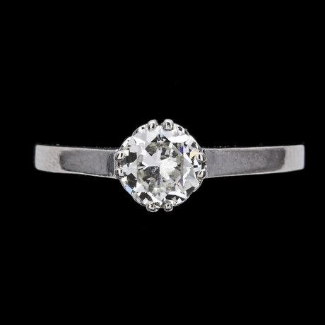 Ring, brilliant cut diamond, older cut, app. 0.80cts.