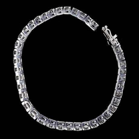 Bracelet, brilliant cut diamonds, tot. app. 5 cts.