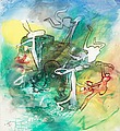"ROBERTO MATTA, ""Folle-Royer "". Signed Matta..."