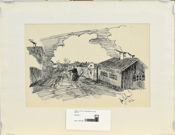OTTO G CARLSUND, teckning, sign samt dat 1912.