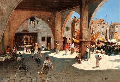 Wilhelm von gegerfelt, venetian quayside.
