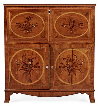 482. A late Gustavian masterpiece writing cabinet by Carl Flygare 1809.