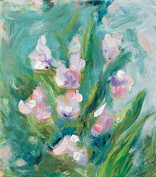 213. Helene Schjerfbeck, Pink sweet peas.