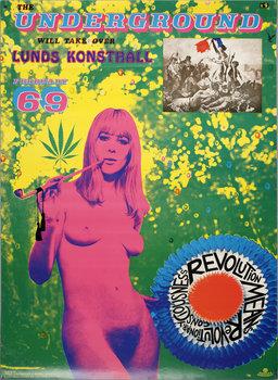 STURE JOHANNESSON, utställningsaffisch, färgoffset, 1969.
