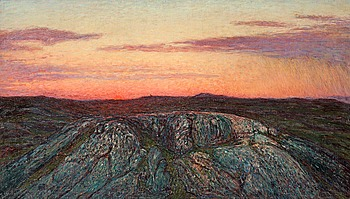 "65. KARL NORDSTRÖM, ""Skymning Hallandskusten"" (Twilight over the coast of Halland)."