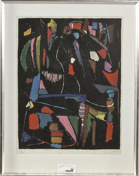 ANDRE LANSKOY, litografi, sign o numr 16/25.