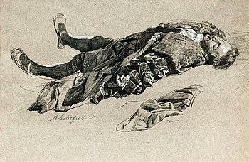 268. Albert Edelfelt, A STUDY.