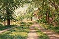 JOHAN KROUTHÉN, Summer landscape with windm...