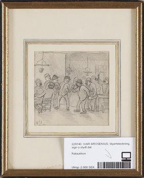 IVAR AROSENIUS, blyertsteckning, sign o dat. 1896.