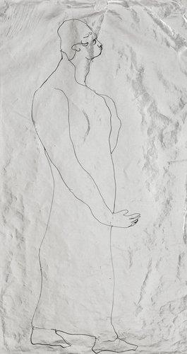 "Ernst josephson, ""helfigur i profil ii"" (full-length figure in profile ii)."