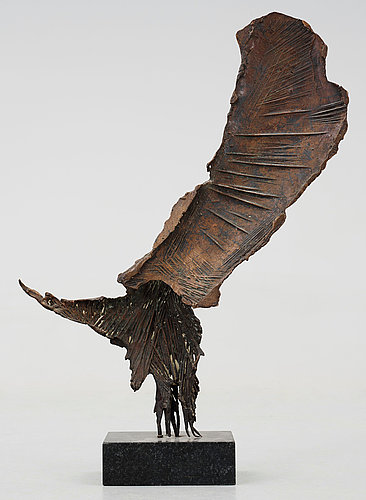 Quinto ghermandi , skulptur, brons. sign och dat 1959.
