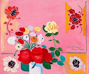 52. Maija Isola, COMPOSITION WITH FLOWERS.