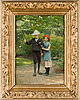 Carl thomsen, carl thomsen,  signed c. th. and dated -88. oil on canvas.