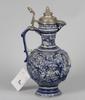 Kanna, keramik samt tenn. 1800-talets slut.